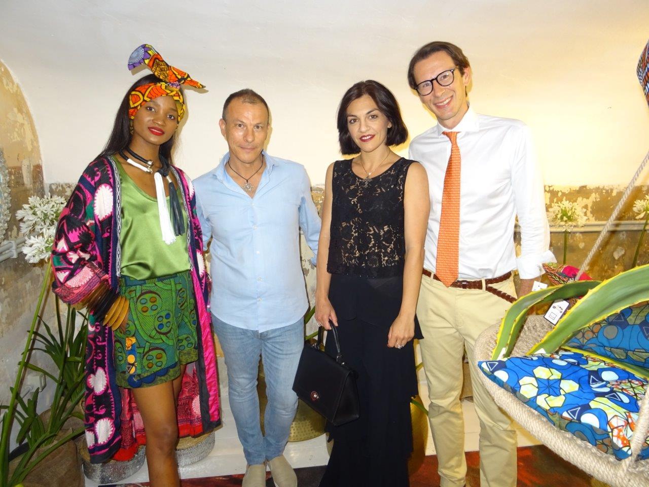 Sabina Fernando, Giovanni Brancato, Rosita Meola e Andrea Parlato