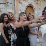 La moglie del festeggiato Silvana Mangano con le sorelle Enza e Mariangela e la nipote Claudia