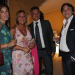 La stilista Daniela Cocco, Licia Pennino, Benny Valenti e Fausto Caramazza