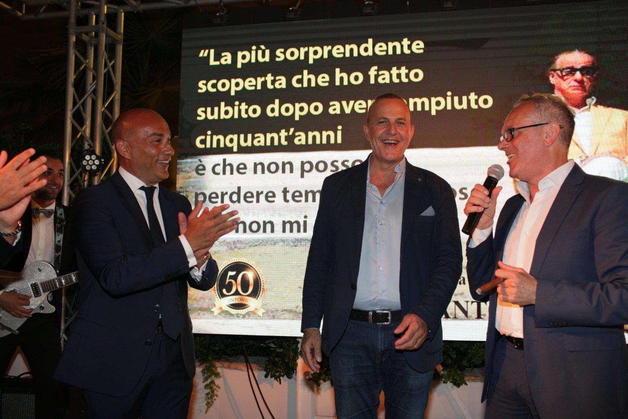 Antonio Cancascì con gli amici Domenico Tumbiolo e Paolo Bonanno