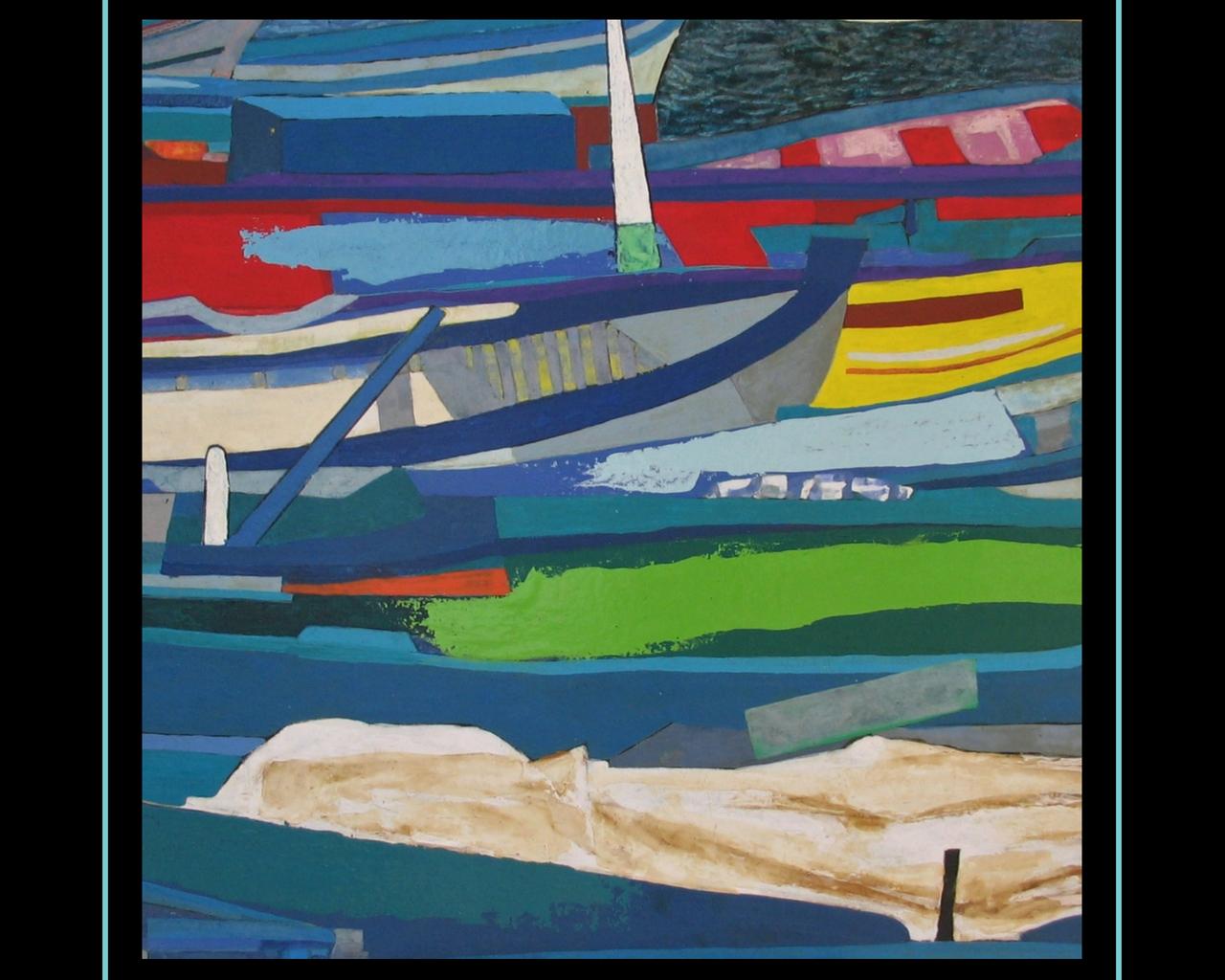 Sicilian Rapsody 4_ (11) Guido Baragli porto pescatori Sferracavallo tec.mxt su tavola cm 100x109