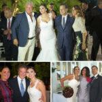 Manfredi Barbera Paola Buscema, sotto Gaia Palma e Marco Sorgi/ gli sposi con Patrizia Gangi