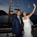 Gli sposi Nadia La Malfa e Giuseppe Lupo