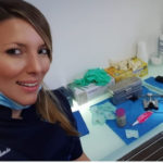 Valeria Egle Giallombardo nello studio odontoiatrico dove ha conosciuto Natale Giunta