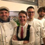 Al centro lo chef Gioacchino Sensale e Livia Ricevuto