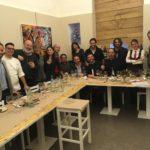 Lo staff di Enosteria Sicuala con giornalisti ed esperti