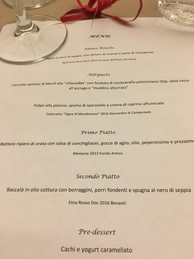 Il nuovo menu di Enosteria Sicula firmato dallo chef Gioacchino Sensale