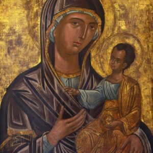 Museo diocesano Monreale. Madonna Hodighitr+¼a, Ioannikios, Seconda met+á XVII secolo cm 64x78