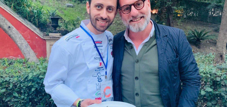 Lo chef Salvatore Giuliano e Salvo Andò titolare di Acanto