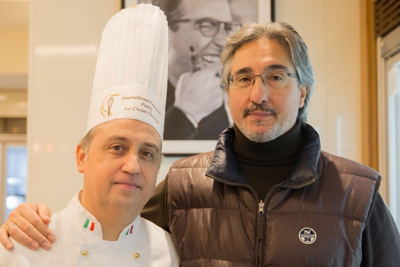 Il pastry chef Giovanni Catalano e Giuseppe Di Gaetano