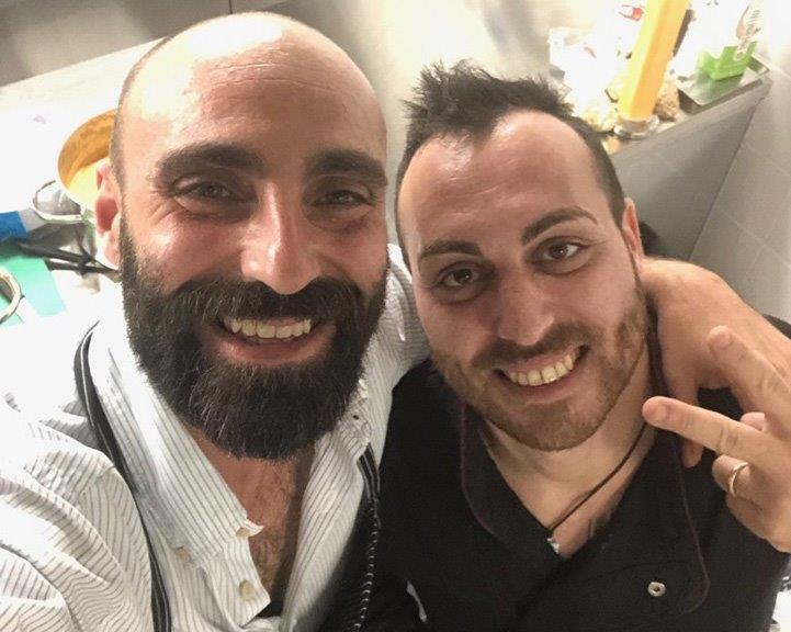 Luca Lo Dico e lo chef Pietro Li Muli