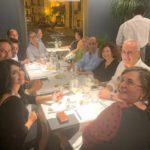 Il tavolo della stampa alla presentazione del menu. Si riconoscono Maria Mattina, Francesco Deliziosi, Salvatore Li Castri e la moglie Giovanna