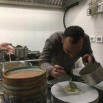 Lo chef Pietro Li Muli all'opera