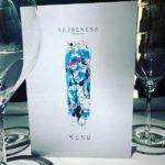 Il menu di Sobremesa realizzato dal graphic designer Sergio Caminita
