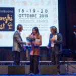 Funghi Fest 2019_l'organizzatore Jhonny Lagrua e i presentatori Eliana Chiavetta e Roberto Gueli