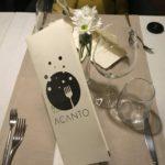 Il menu di Acanto