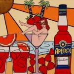 1_Enrico Cecotto_Happy hour_acrilico su tela e tecnica mista_80 x 80 cm_2008