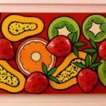 2_Enrico Cecotto_Cromia bilanciata red_acrilico su tela e tecnica mista_50 x 150 cm_2012