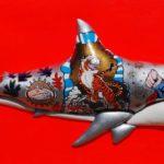 6_Enrico Cecotto_Super Shark_acrilico e tecnica mista su tela_120 x 50_2019