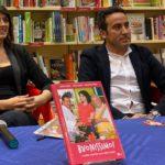 Elisa Isoardi e lo chef Natale Giunta, sabato, da Mondadori per la presentazione di Buonissimo!
