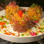 Tris di tartare di spigola, salmone e tonno